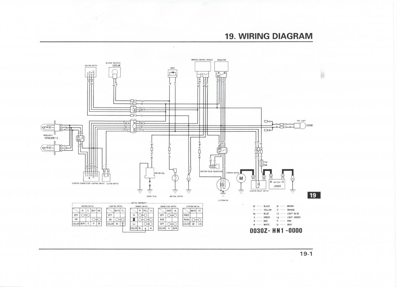 01 honda 400ex colored wiring diagram