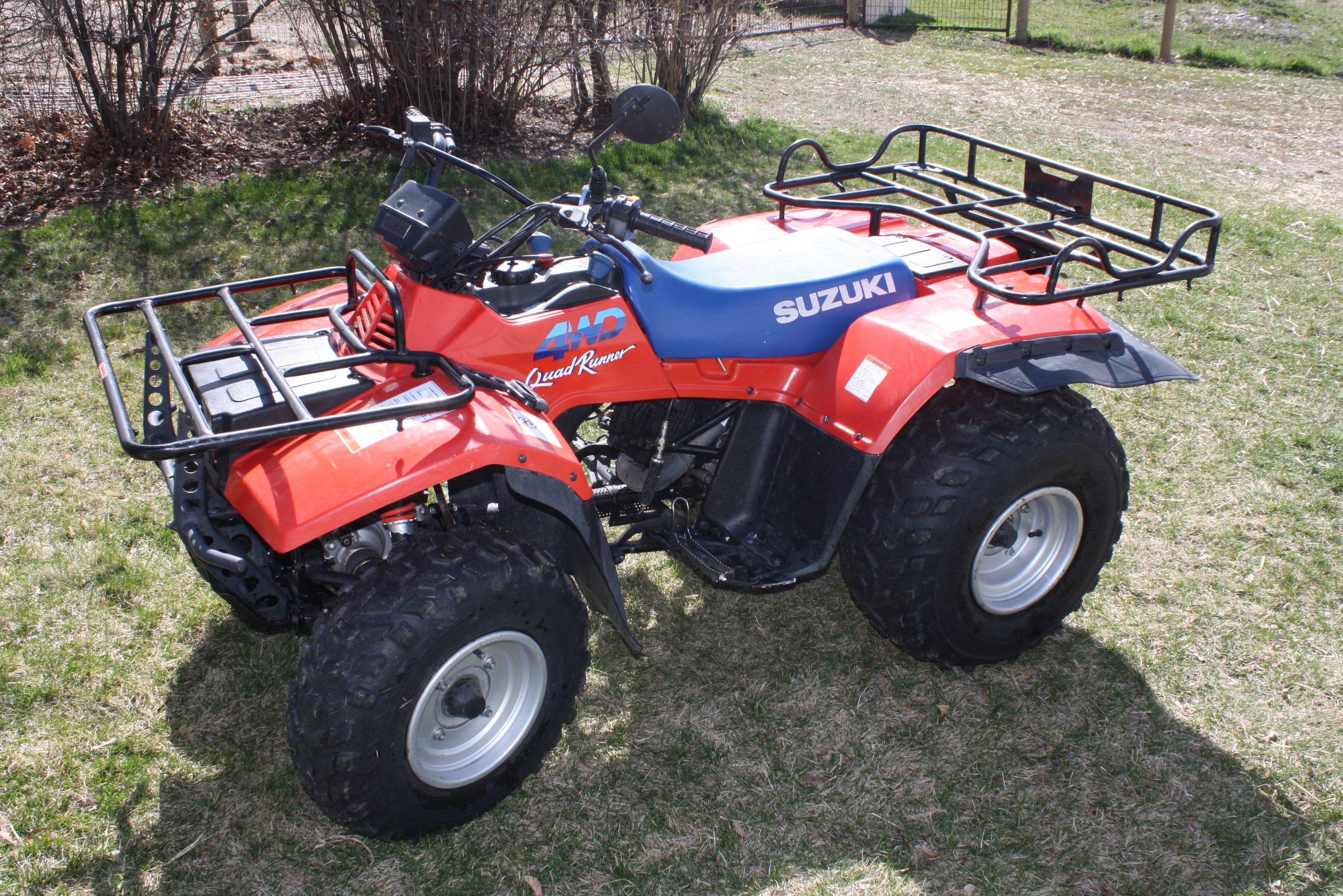 Atv Rear Seat Suzuki Quadrunner