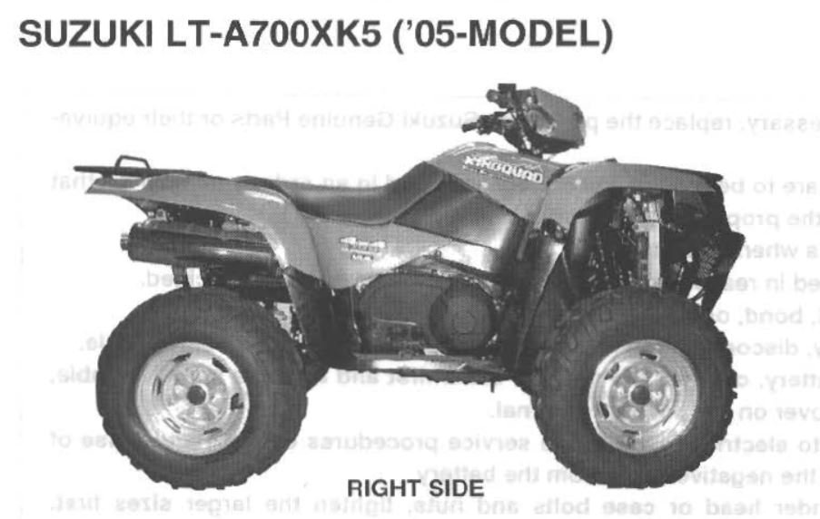2005 suzuki king quad lt a700xk5 service manual suzuki atv forum rh quadcrazy com