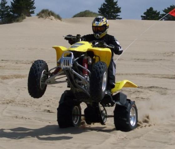 ATV Wheelie in sand