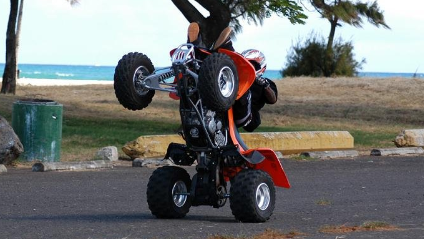 ATV Wheelie up on Two
