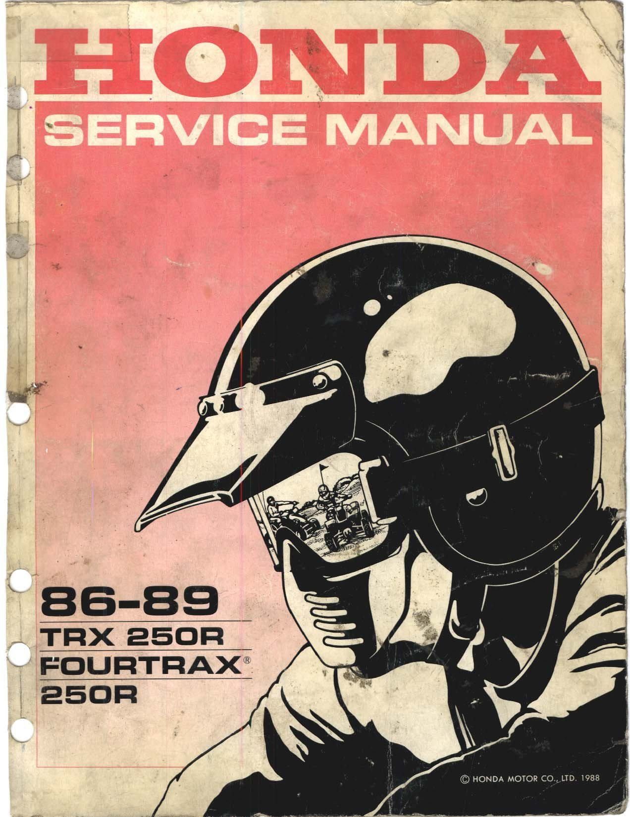 1986-1989 Honda TRX250R Service Manual