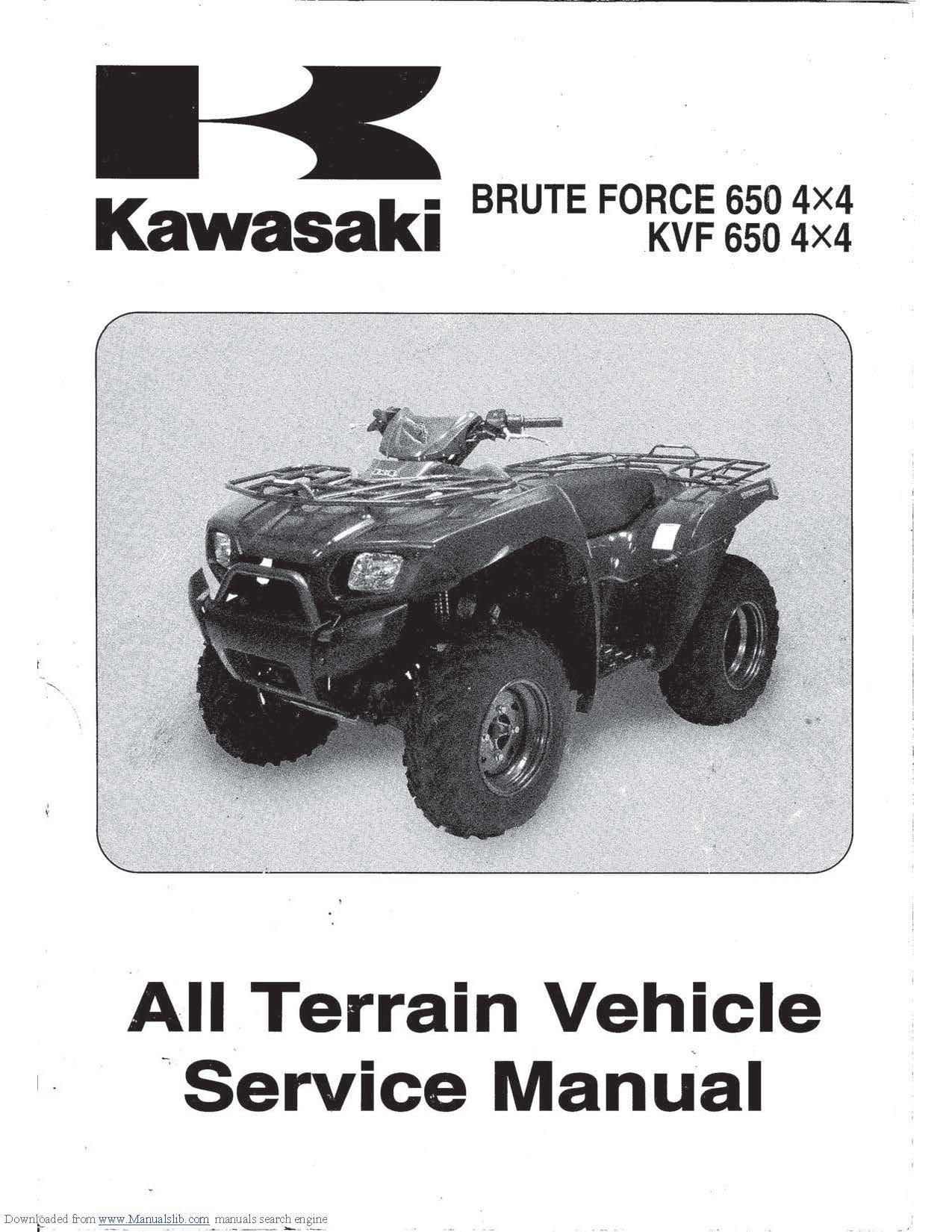 Brute Force 650 SRA KVF-650 Service Manual 2005