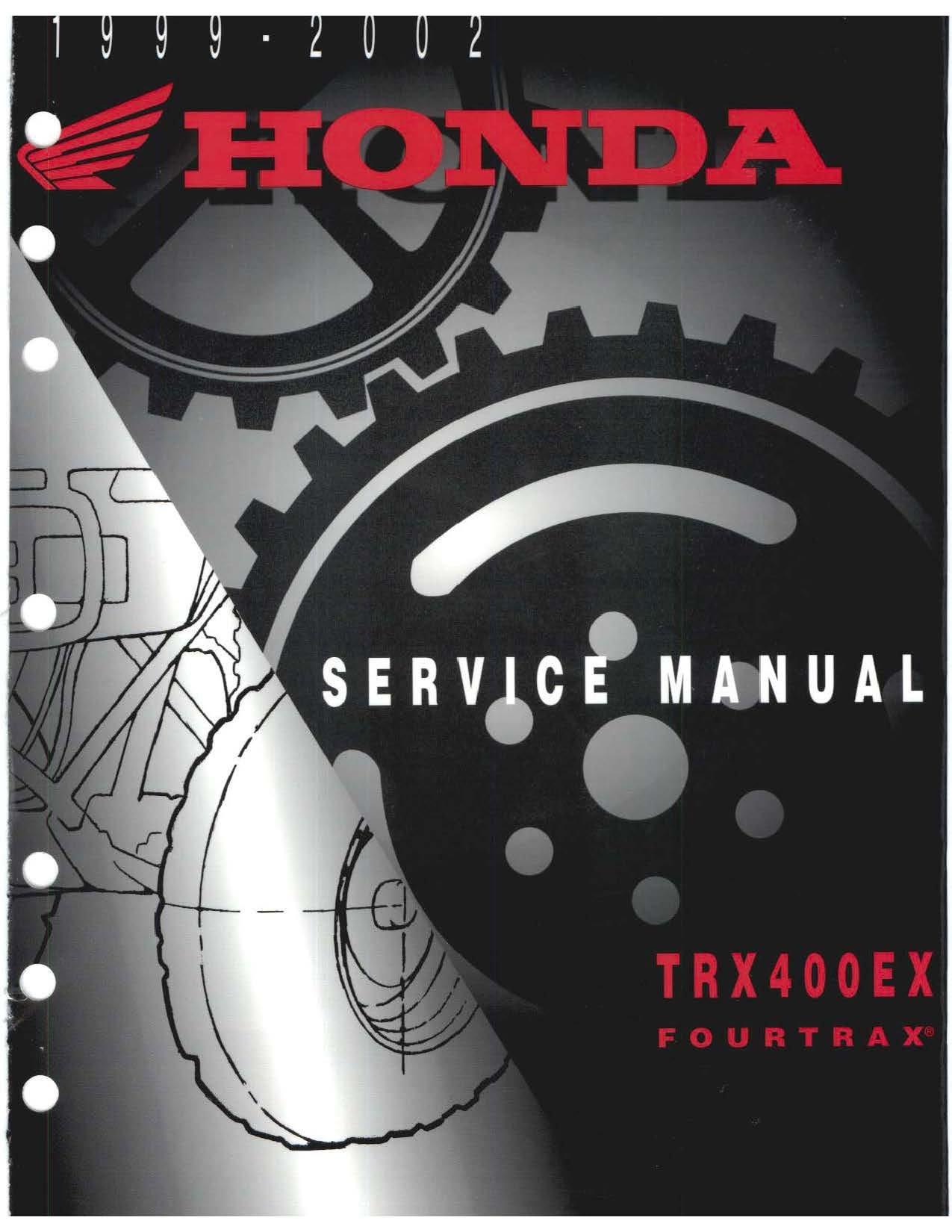 1999-2002 Honda TRX400EX Service Repair Manual