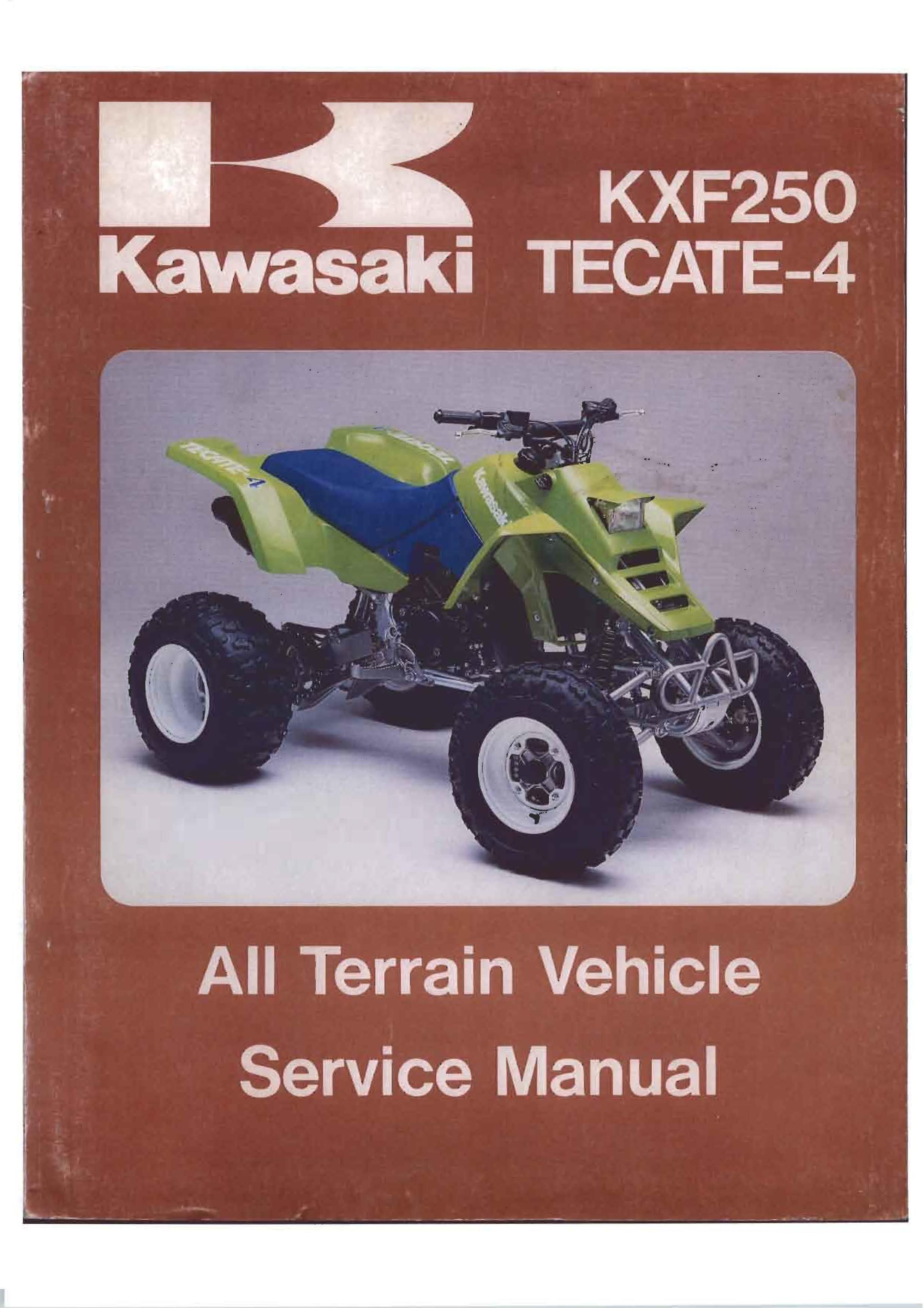 Tecate-4 KXF-250 Service Manual 1987-1988 - Kawasaki ATV Forum - QUADCRAZYQuadCRAZY