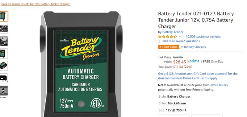 Battery Tender 021-0123 Battery Tender