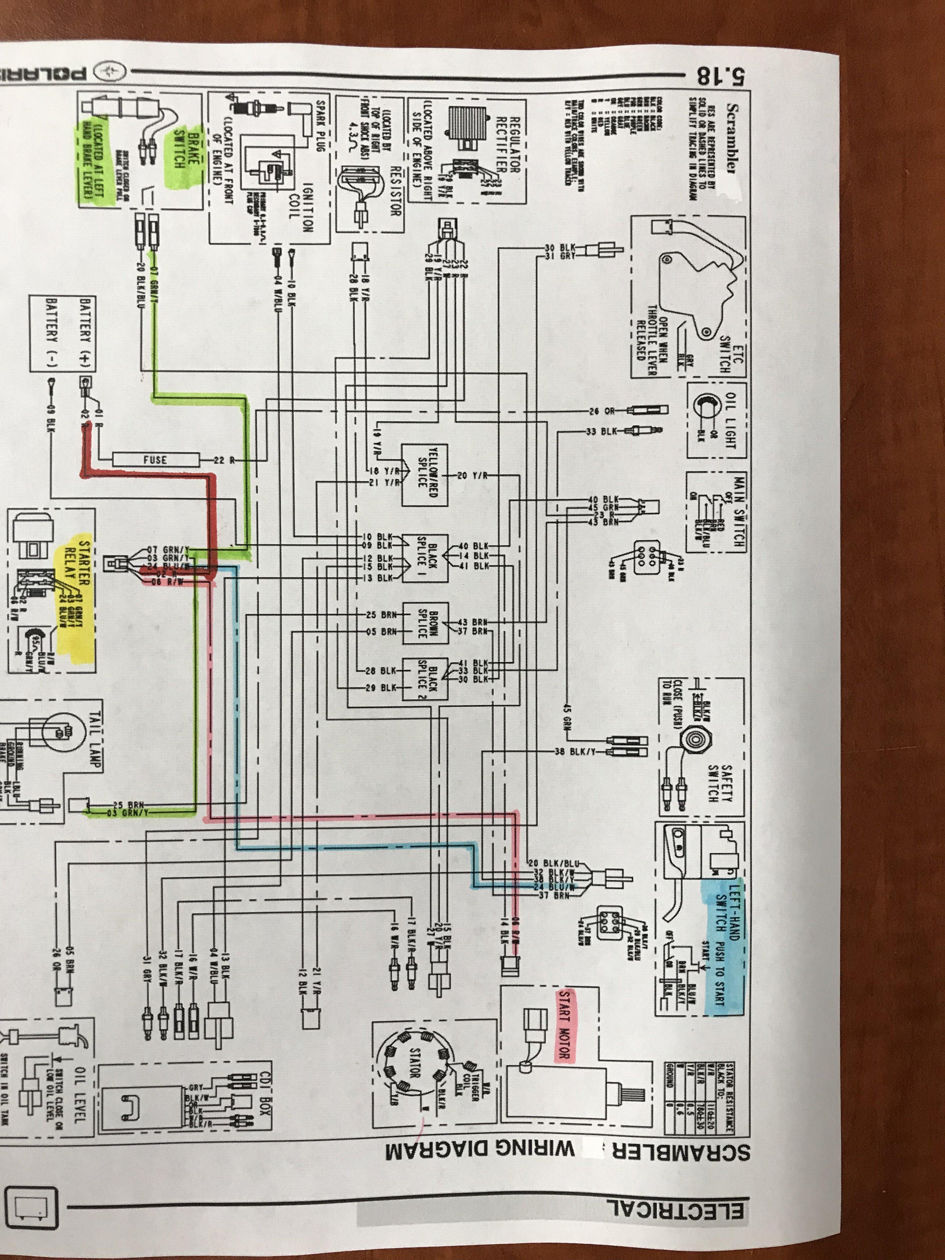 Wiring For My 2002 Polaris Scrambler 90