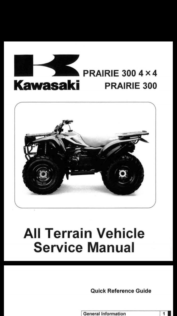 1999-2002 Kawasaki KVF300 Prairie Service Manual