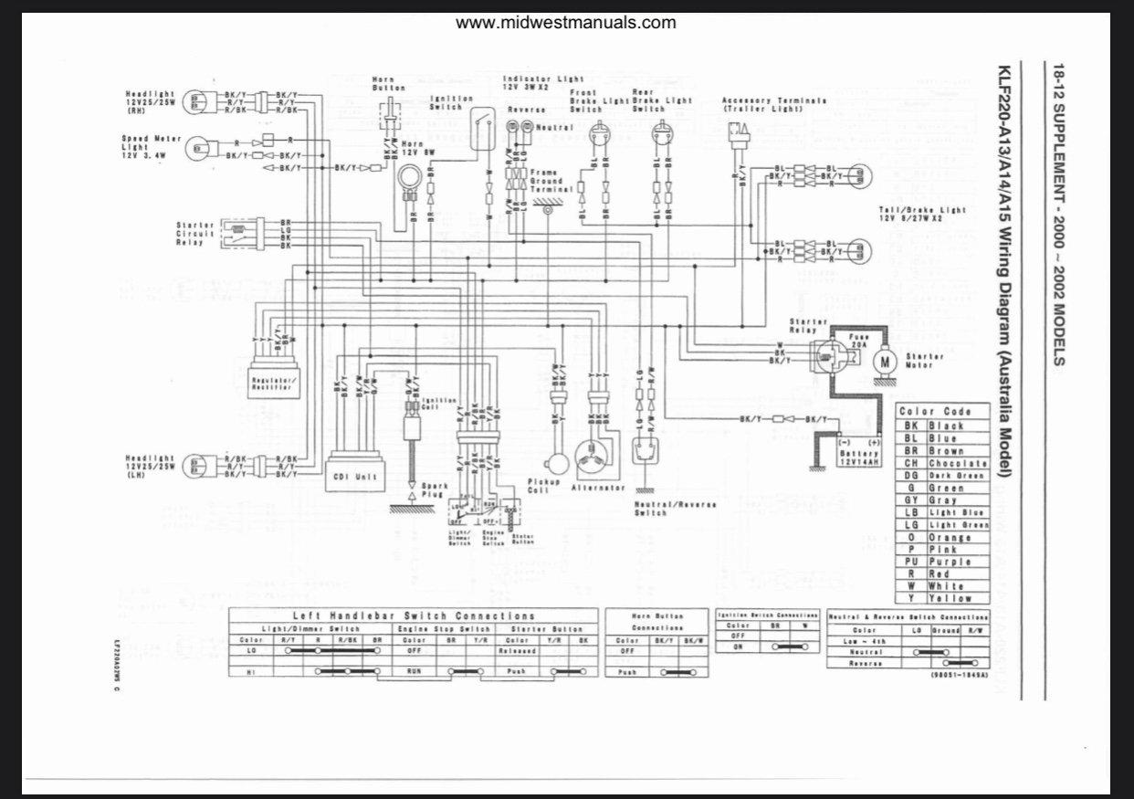1998 Kawasaki Bayou Wiring Help